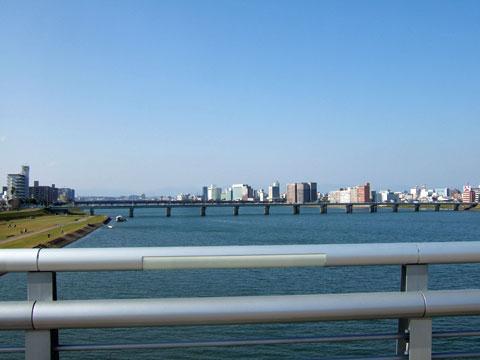 大淀川上流方面